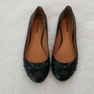 Soda Black Flat Shoes